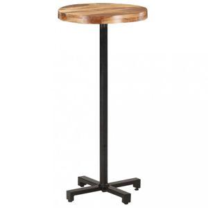 Barový stôl Ø 50 hnedá / čierna Dekorhome