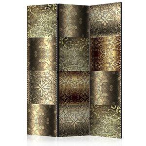 Paraván Metal Plates Dekorhome 135x172 cm (3-dielny)