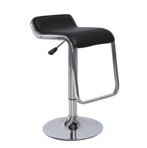 Barová stolička ILANA ekokoža / chróm Tempo Kondela Čierna