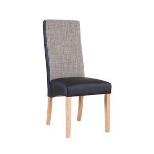 Jedálenská stolička ARDON natural / čierna / melír Tempo Kondela