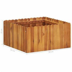 Záhradný kvetináč akáciové drevo Dekorhome 50x50x25 cm
