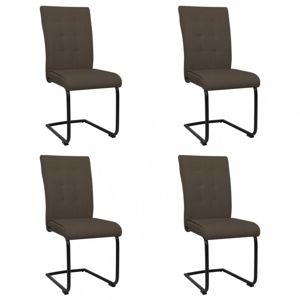 Konzolová jedálenská stolička 4 ks látka / kov Dekorhome Hnedá