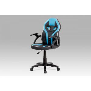 Detská kancelárská stolička KA-N664 BLUE čierná / modrá Autronic