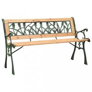 Záhradná lavička liatina / masívne drevo Dekorhome