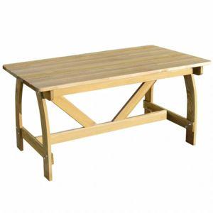 Záhradný stôl z borovicového dreva 150x74 cm