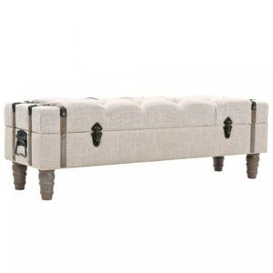 Úložná lavice 111 cm krémová Dekorhome