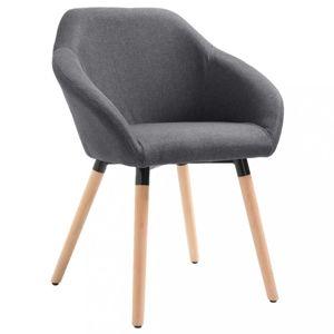 Jedálenská stolička látka / drevo Dekorhome Tmavosivá