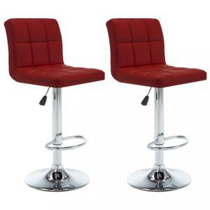 Barové stoličky 2 ks umelá koža / kov Dekorhome Vínová