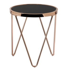 Odkladací stolík VALERO Tempo Kondela Ružové zlato