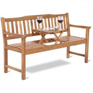 Záhradná drevená lavice so stolíkom GH4606