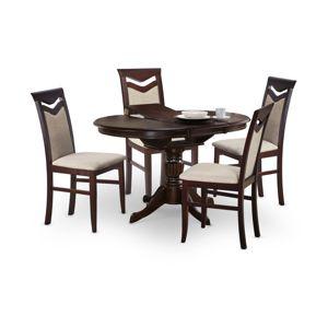 Jedálenský stôl rozkladací WILLIAM tmavý orech Halmar