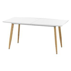 Jedálenský stôl rozkladací RUTEN biely Halmar
