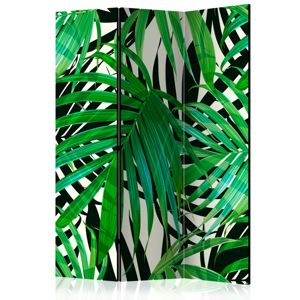 Paraván Tropical Leaves Dekorhome 135x172 cm (3-dielny)