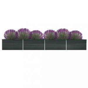 Záhradný kvetináč 600x80x45 cm pozinkovaná oceľ Dekorhome Antracit