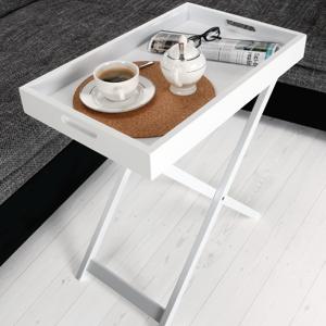 Servírovací stolík PATROL biela Tempo Kondela