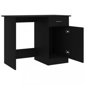 Písací stôl so skrinkou 100x50 cm Dekorhome Čierna