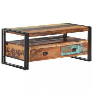 Konferenčný stolík drevo / oceľ Dekorhome Recyklované drevo