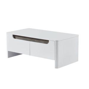 Konferenčný stolík GARNER biela/ biela extra vysoký lesk HG Tempo Kondela
