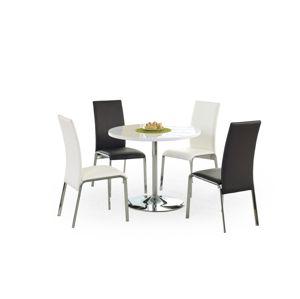 Okrúhly jedálenský stôl OMAR biela / chróm Halmar