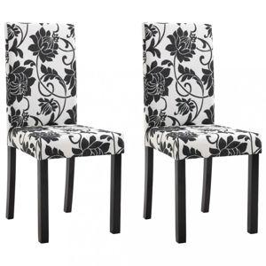 Jedálenská stolička 2 ks látka / drevo Dekorhome Čierna