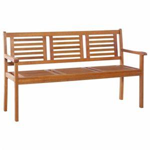 Záhradná lavička s operadlom 150 cm z eukalyptového dreva