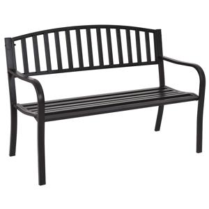 Záhradná lavička HEBRA čierna Tempo Kondela