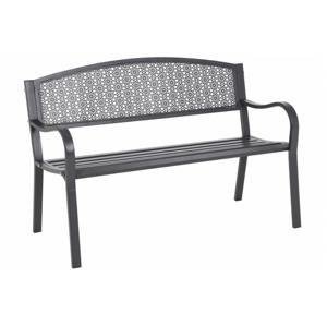 Záhradná kovová lavička GH1852 sivá