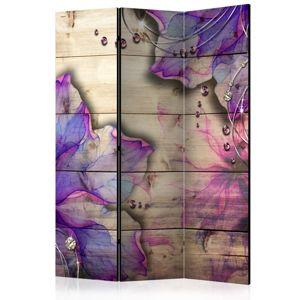 Paraván Purple Memory Dekorhome 135x172 cm (3-dielny)