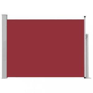 Zaťahovací bočná markíza 100x500 cm Dekorhome Červená
