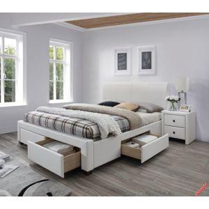 Posteľ Modena 2 rozmer 160x200 cm biela s úložným priestorom + matrac Halmar
