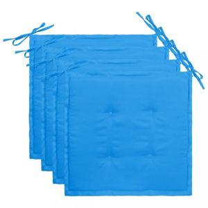 Podušky na záhradné stoličky 4 ks Dekorhome Modrá