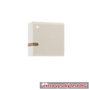 Závesná skrinka LYNATET TYP 65 biela vysoký lesk / dub sonoma tmavý truflový Tempo Kondela