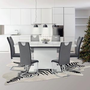 Jedálenský rozkladací stôl IRAKOL biela vysoký lesk HG Tempo Kondela