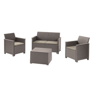 EMMA 2 seaters sofa set - Allibert Cappuccino