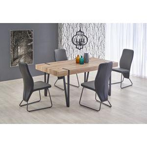 Jedálenský stôl YOHANN dub san remo / čierna
