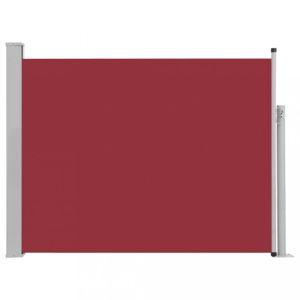 Zaťahovací bočná markíza 170x500 cm Dekorhome Červená