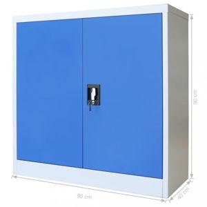 Kancelárska skriňa sivá / modrá Dekorhome 90x40x90 cm
