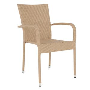 Záhradná stolička VIPANA polyratan Tempo Kondela Svetlo hnedá
