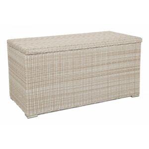 Záhradný úložný box polyratan 1037L Krémová