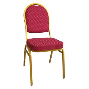 Stohovateľná stolička JEFF 3 NEW Tempo Kondela Červená