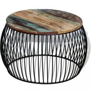 Konferenčný stolík hnedá / čierna Dekorhome