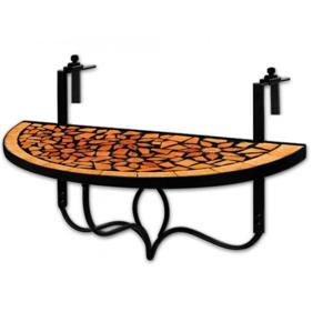 Závesný balkónový stolík s mozaikou D1246 Dekorhome