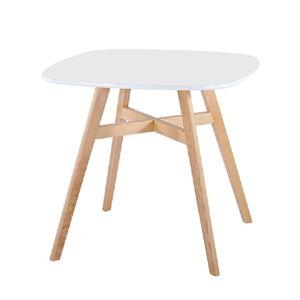 Jedálenský stôl DEJAN 2 NEW biela / prírodná Tempo Kondela