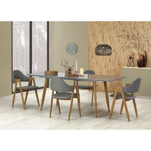 Jedálenský stôl rozkladací RUTEN šedý Halmar