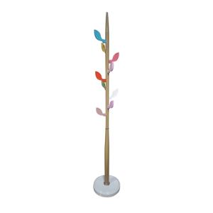 Vešiak FLOVER s farebnými úchytkami Tempo Kondela Prírodná