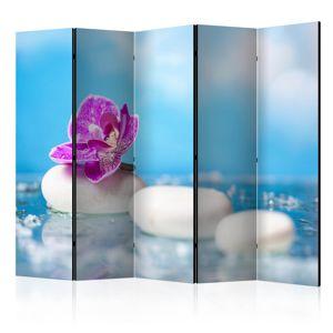 Paraván Pink Orchid and white Zen Stones II Dekorhome