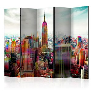 Paraván Colors of New York City Dekorhome 225x172 cm (5-dielny)