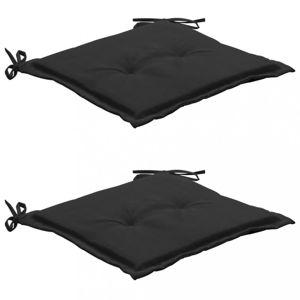 Podušky na záhradné stoličky 2 ks Dekorhome Čierna