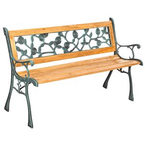 Záhradná lavička FAIZA drevo / kov Tempo Kondela