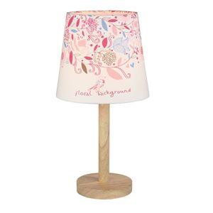 Stolná lampa QENNY TYP 8 biela / vzor kvety Tempo Kondela